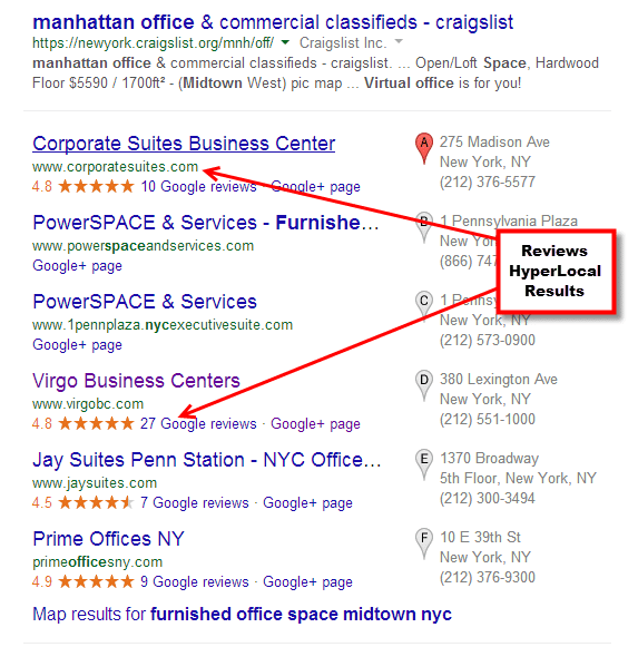 Hyperlocal search NYC