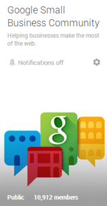 Google Small Business Community on Google+