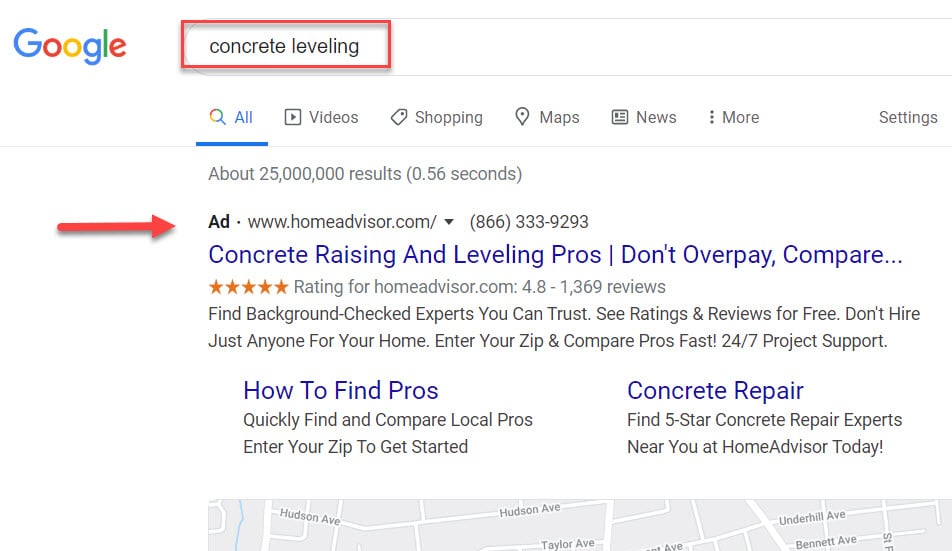 Google Ads for Slabjack Contractors