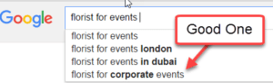 Google suggest search strategy