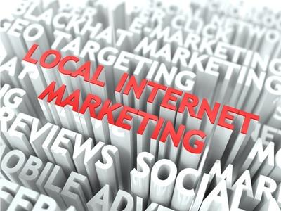 Local Internet Marketing Concept.